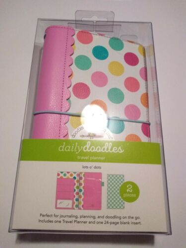 """Doodlebug Daily Doodles Travel Planner Lots O/' Dots Plus Insert 5X9/"""" Journal"""