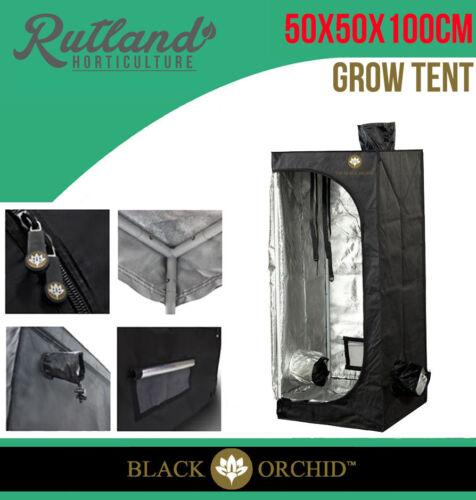 Black Orchid Hydroponic Indoor Grow Room Diamond Silver Mylar Tent 50X50X100Cm