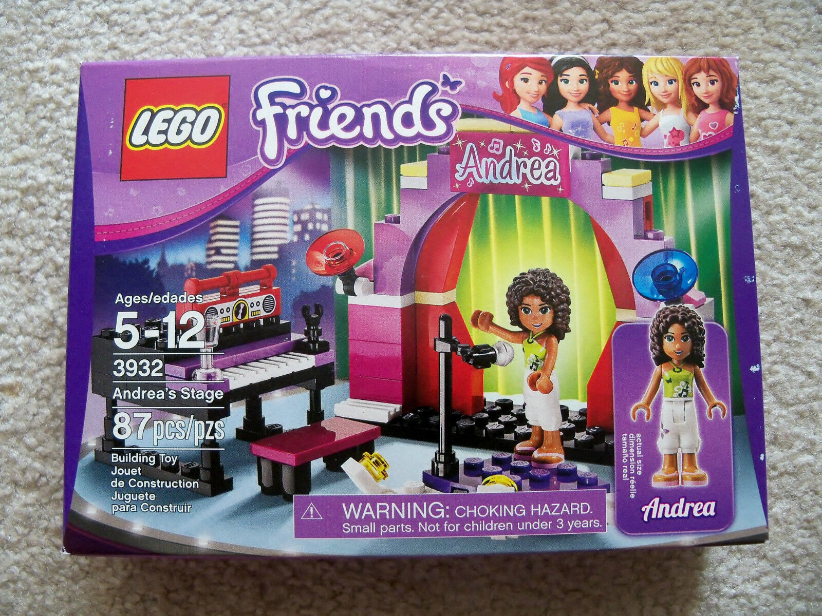 LEGO Friends - Rare Rare Rare - Andrea's Stage - 3932 - New & Sealed 70b1e8
