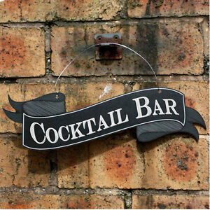 COCKTAIL-BAR-Scroll-Shaped-Sign-Outdoor-Pub-Sign-Garden-Sign-Hanging-Bar-Sign