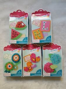 Details About New American Girl Doll Crafts Sew Share Friendship Kits Felt Diy Tags Ornament