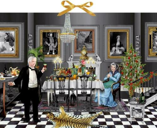 Kalender  Christmas Dinner for One Zettel-Adventskalender Adventskalender Mit T