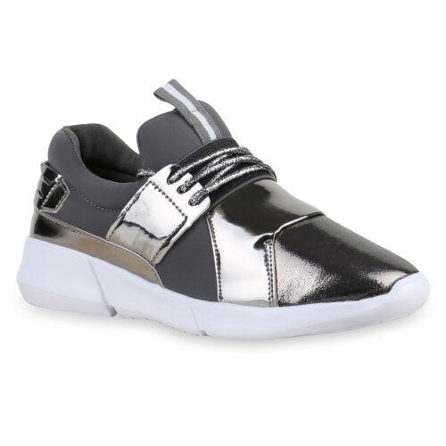 Modische Damen Sportschuhe Glitzer Laufschuhe Lack Sneakers 816113 Schuhe