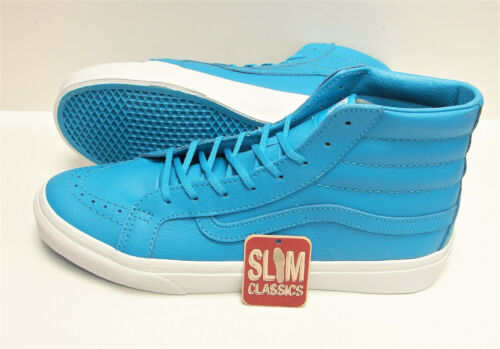 Details about  /Vans SK8 Hi Slim Neon Leather Neon Blue VN0A32R2MXQ Women/'s Size 6.5