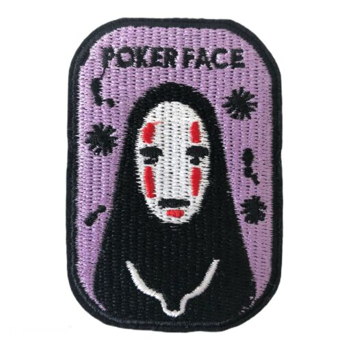 No Face Ghibli Spirited Away Kawaii Japanese Embroidered Sew Iron On Patch