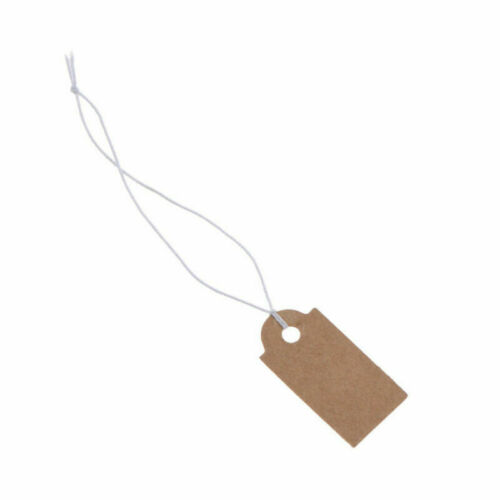 Details about  /100X  Kraft Paper Hang Tag Label Blank Jewellery Pricing String Supplies Craft