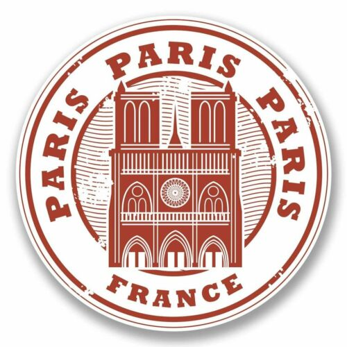 2 x Paris France Vinyl Sticker Car Travel Luggage #9786