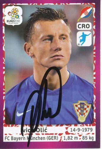 268895 Ivica Olic  Kroatien  Panini Sticker EM 2012  signiert