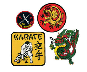 Martial-Arts-Patches-Karate-Kung-Fu-Sword-Dragon-Embroidery-patch-Sew-On