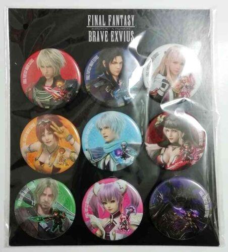 Final Fantasy Brave Exvius Can Badge Button Set x9 5.5cm Square Enix Game F//S