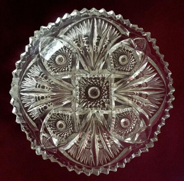 Vintage Cut Glass Candy/Relish dish