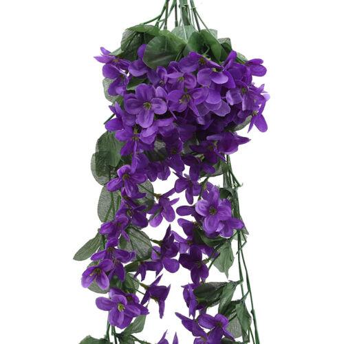 Artificial Fake Flower Hanging Flowers Violet Simulation Vine Wedding Decor Q