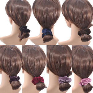 4x-NEW-Velvet-Elastic-Hair-Scrunchie-Scrunchy-Hairband-Head-Band-Ponytail-Holder