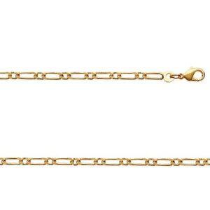 Ketten RüCksichtsvoll Kette Vergoldet Figarokette Für Herren 1-1 55 Cm Breite 2,8 Mm Neu Reine WeißE