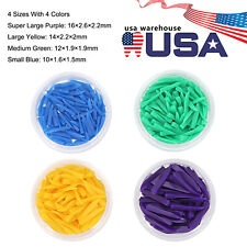 1 Box New Dental Disposable Wooden Wedges Interdental Composite Contoured 4 Size