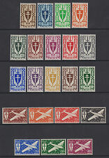 Cameroun - SG 193/213 - l/m - 1942 Free French Issue
