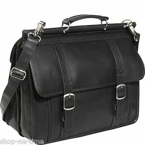 Piel-Leather-European-16-034-Laptop-Full-Grain-Colombian-Leather-Briefcase-New