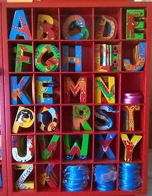 BNWT Wooden Adventure Letters for sticking to Walls Plaques Furniture Blue Boys