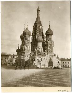 Russia-Moscou-St-Basil-le-Bienheureux-Vintage-albumen-print-Silver-Print