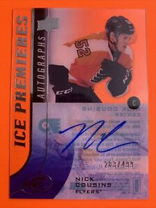 2015-16 Upper Deck Ice Premieres Autographs #IPA-NC Nick Cousins /499 Flyers RCA