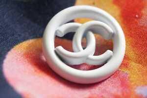 100-Chanel-button-1-pieces-cc-logo-20-mm-0-8-inch-metal-white