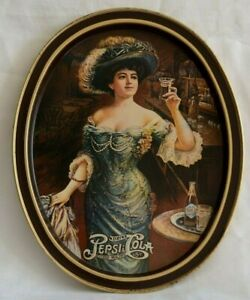 Reproduction-of-Antique-VINTAGE-METAL-14-x12-034-Serving-TRAY-DRINK-PEPSI-COLA-Bar