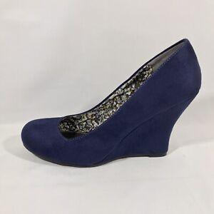 Cato Royal Blue Faux Suede Women's Size