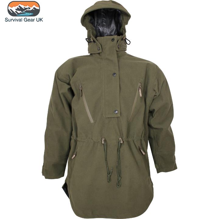 Jack Pyke Argyll Smock Smock Smock Mens Waterproof Jacket Hooded Coat Moss Grün Größe Large 77d