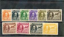 VENEZUELA Sc C206-15(MI 435-44)**F-VF NH 1944 ANTONIO DE SUCRE SET $180