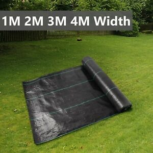 1/2/3/4M Wide Weed Control Fabric Garden Barrier Membrane Ground Decking Cover
