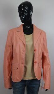 Details zu S´ Egnaro butterweiche Nappa Lederjacke apricot Gr. 42 Leder Jacke Blazer #78