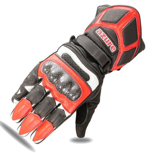 Motorbike Racing Gloves Motorcycle Glove Red Goat Leather Racing Wear 1662 2XL