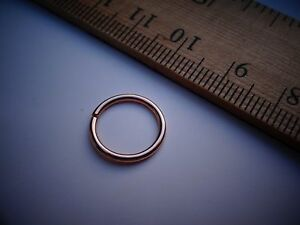 Details About Navel Belly Button Ring 14k Rose Gold 16 Gauge Small Hoop 1 2 Inch Orsmaller