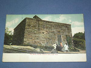 VINTAGE EARLY 1900S BLOCK HOUSE CENTRAL PARK  NEW YORK   POSTCARD