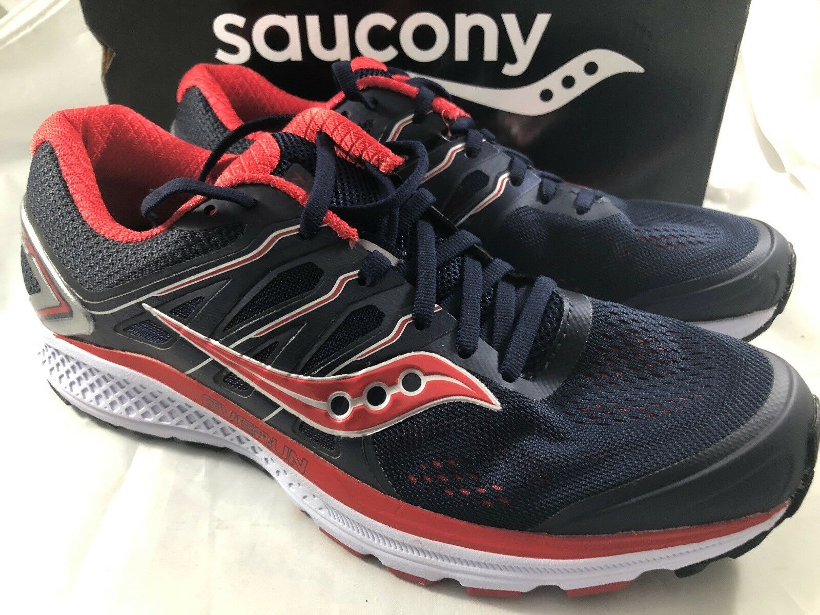 Saucony Omni 16 S20370-2 Men Size 10 Navy Red