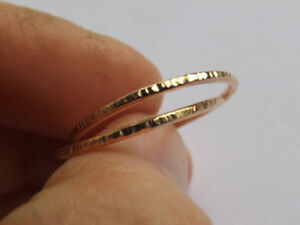 0c62238b1f47e Details about 14k Gold Interlocking Thumb Rings,Stacking Rings,Minimalist  Rings,Unique ring