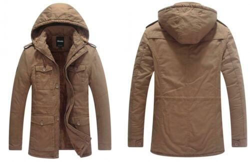 Wantdo Men/'s Winter Thicken Puffer Coat with Removable Hood Small Khaki
