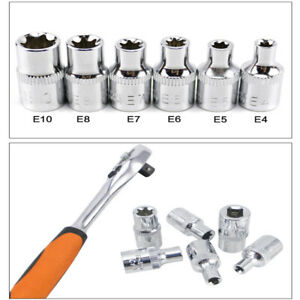 Car Repair Tool Parts E-type Hex Ratchet Drive Sockets Wrench Torx Star Bit 1pc
