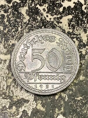 1 Coin Only 1921-A Germany 50 Pfennig Beautiful! 5 Available High Grade