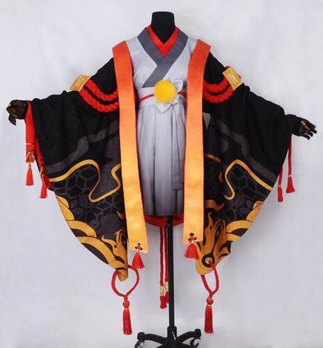 Onmyoji Bore Cosplay Kostüm Keid Costume Japan Kimono Lolita Gothic Schwarz Rot