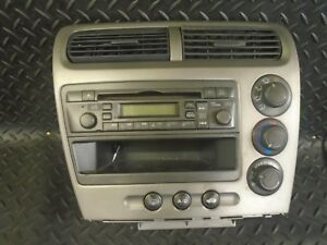 2003-HONDA-CIVIC-1-4i-5DR-RADIO-CD-PLAYER-amp-HEATER-CONTROLS-39101-S6A-E611-M1