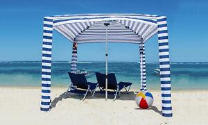 Portable-Beach-Cabana-Tent-Sun-Shelter-180cm-UPF50-Carry-Bag-Outdoor-Stripes-AU