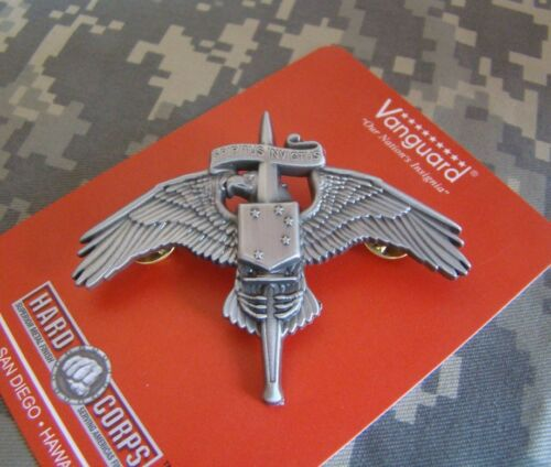 US USMC MARINE CORPS SPECIAL FORCES MARSOC RAIDER REGIMENT BADGE PIN GRAY