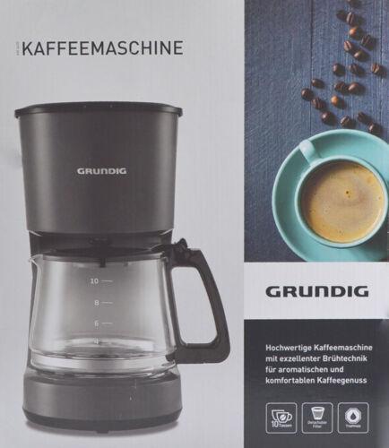 900w Grundig KM 4620 Macchina del caffe 10 TAZZE 1,25l Vetro Brocca Caffè Automatica