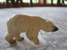 "ANTIQUE GERMAN COMPOSITION LINEOL ELASTOLIN TOY POLAR BEAR FIGURE 1 1/2"""