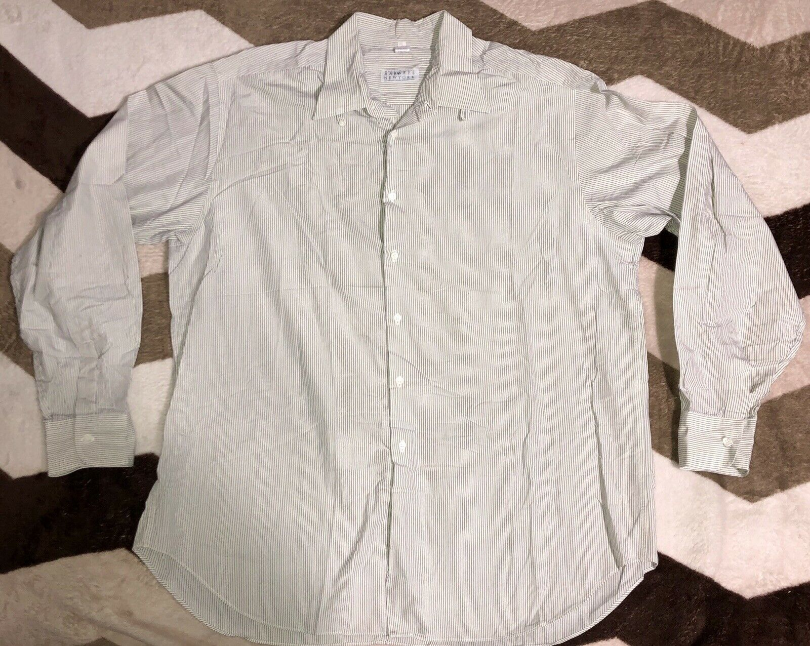Vintage Barneys New York International Collection Button Front Long Sleeve Shirt