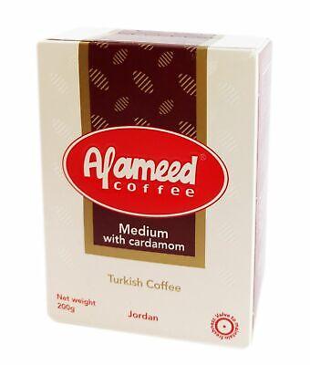 Al Ameed Turkish Ground Coffee with Cardamom Medium Roast Rich Taste | eBay