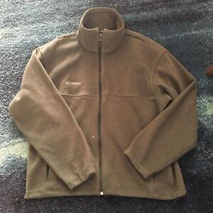 Columbia-Sportswear-Green-Fleece-Zip-Up-Sweater-Men-039-s-L-Outdoor-Active