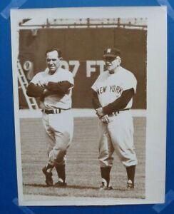 Yogi-Berra-amp-Casey-Stengel-United-International-Press-Vintage-8x10-Photo