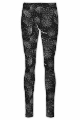 Womens Halloween Stretchy Leggings Costume Ladies Skeleton Bone Bodycon Jeggings